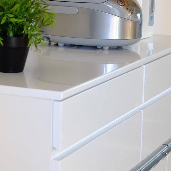キッチン収納 キッチン ダストボックス キャビネット 幅100 高さ90 カウンター  ホワイト パール 4D (IS)|denzo|03
