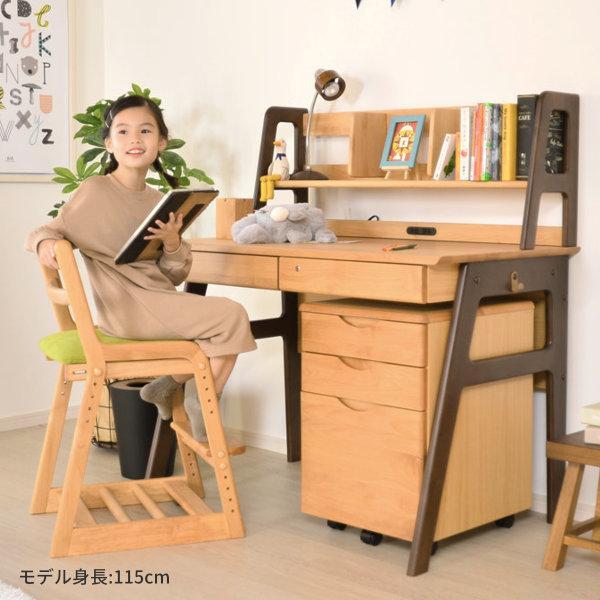 学習机 勉強机 学習デスク キッズ 机 つくえ 単品 幅105 木製 シンプル 送料無料 PCデスク エクリュ(IS)|denzo|03