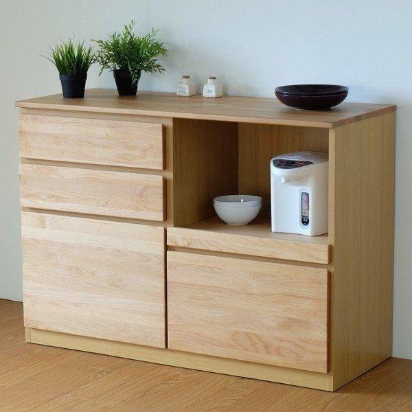 キッチンカウンター ローボード 食器棚 シフォン2 幅120 (IS) denzo