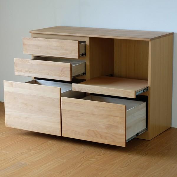 キッチンカウンター ローボード 食器棚 シフォン2 幅120 (IS) denzo 02