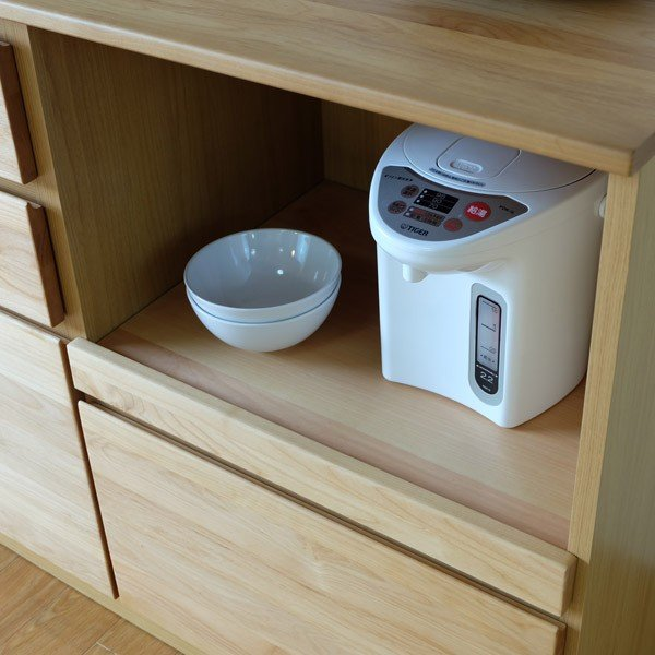 キッチンカウンター ローボード 食器棚 シフォン2 幅120 (IS) denzo 03
