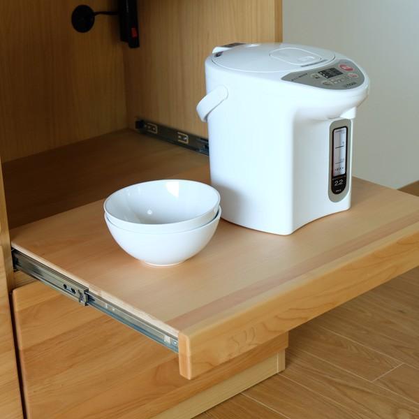 キッチンカウンター ローボード 食器棚 シフォン2 幅120 (IS) denzo 04
