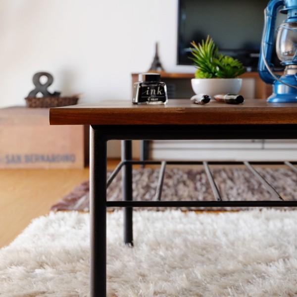 最大34%付与!!テーブル ローテーブル ビンテージ 木製 無垢 90 リトル (IS) denzo 03