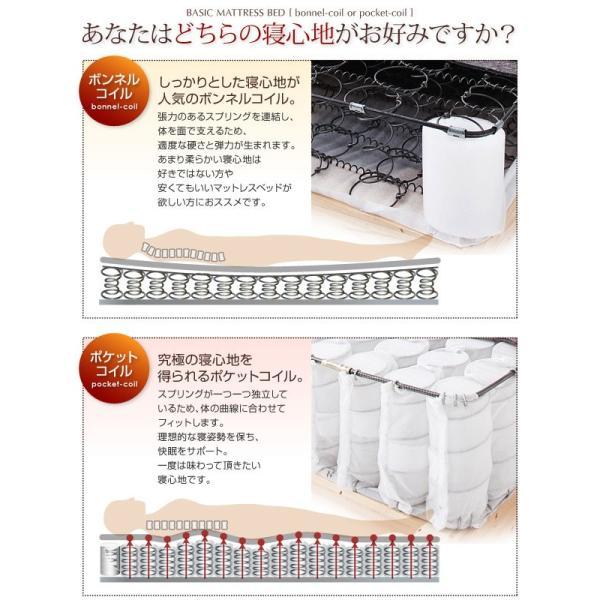 マットレス ベーシックボンネルコイルマットレス(ベッド)セミダブル脚22cm (CO)|denzo|02