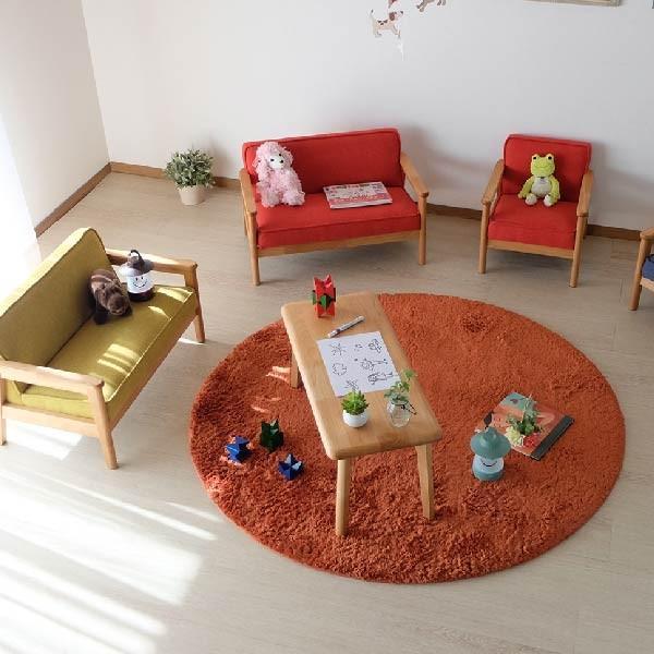 キッズテーブル 子供部屋家具 子供用 木製 カルボ キッズ ミニテーブル  (IS)|denzo|05
