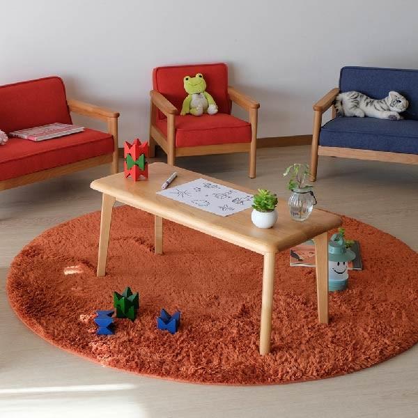 キッズテーブル 子供部屋家具 子供用 木製 カルボ キッズ ミニテーブル  (IS)|denzo|07
