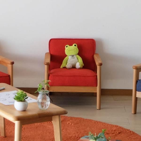 キッズソファ 子供部屋家具 子供用 木製 カルボ キッズ ソファ S  (IS)|denzo|04