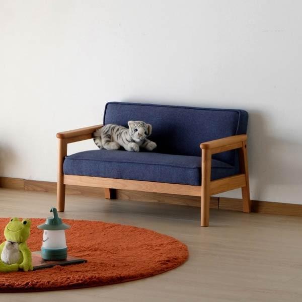 ポイント最大31倍!キッズソファ 子供部屋家具 子供用 木製 カルボ キッズ ソファ L  (IS)|denzo|02