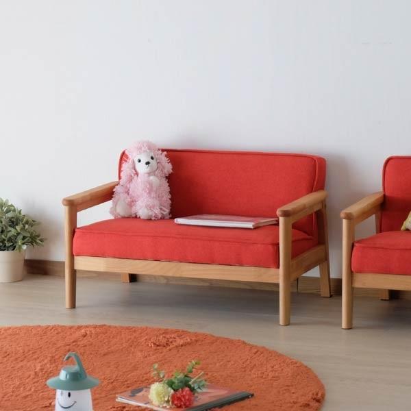 ポイント最大31倍!キッズソファ 子供部屋家具 子供用 木製 カルボ キッズ ソファ L  (IS)|denzo|03