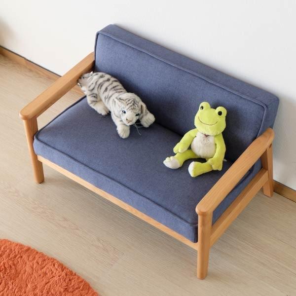 ポイント最大31倍!キッズソファ 子供部屋家具 子供用 木製 カルボ キッズ ソファ L  (IS)|denzo|04