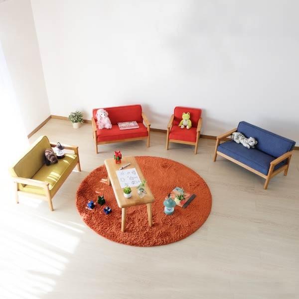 ポイント最大31倍!キッズソファ 子供部屋家具 子供用 木製 カルボ キッズ ソファ L  (IS)|denzo|05