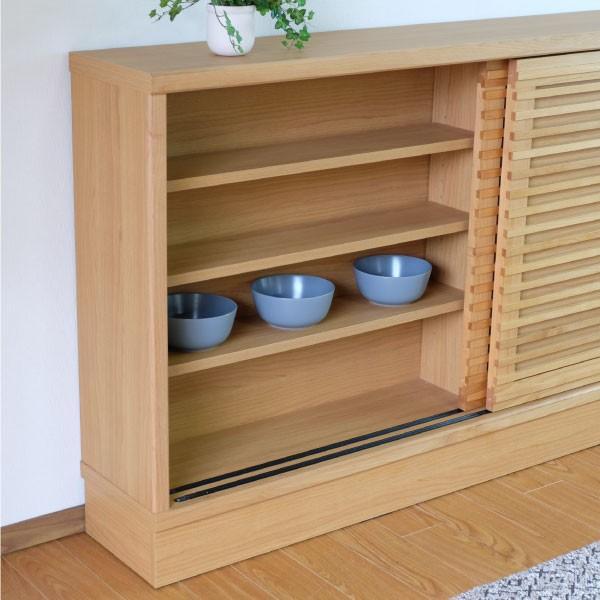 キッチン リビング キャビネット 収納ボックス 幅150 奥行25 シエン(IS)|denzo|04