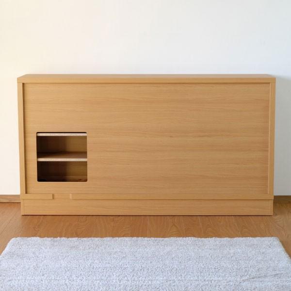 キッチン リビング キャビネット 収納ボックス 幅150 奥行25 シエン(IS)|denzo|06
