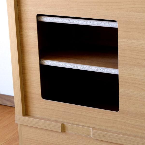 キッチン リビング キャビネット 収納ボックス 幅150 奥行25 シエン(IS)|denzo|08