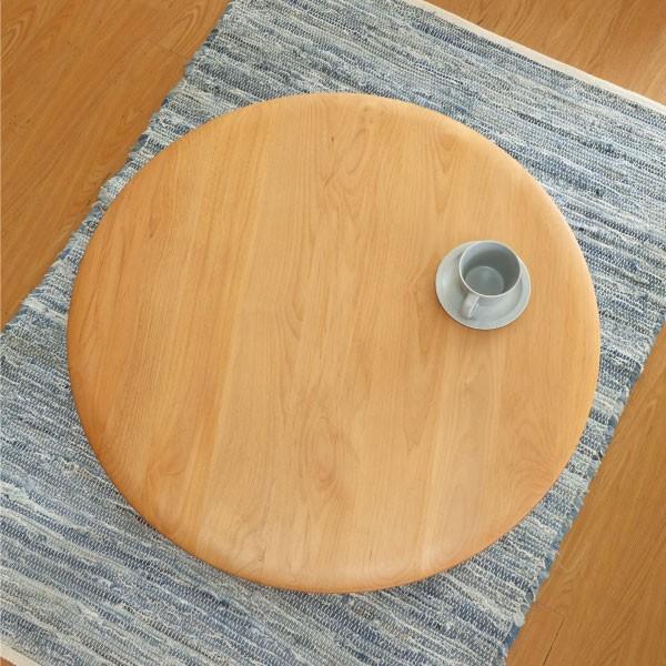 テーブル センターテーブル 座卓 北欧 アルダー ローテーブル ちゃぶ台 丸型 エリス 80cm (IS)|denzo|03