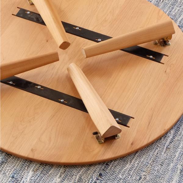 テーブル センターテーブル 座卓 北欧 アルダー ローテーブル ちゃぶ台 丸型 エリス 80cm (IS)|denzo|04