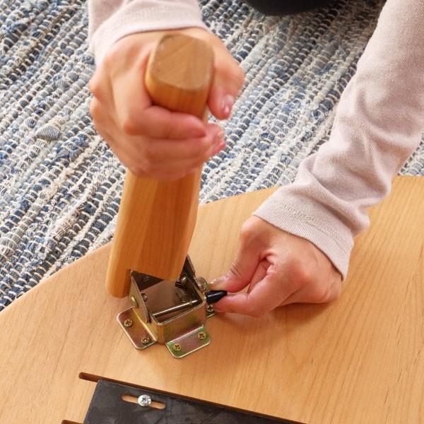 テーブル センターテーブル 座卓 北欧 アルダー ローテーブル ちゃぶ台 丸型 エリス 80cm (IS)|denzo|05