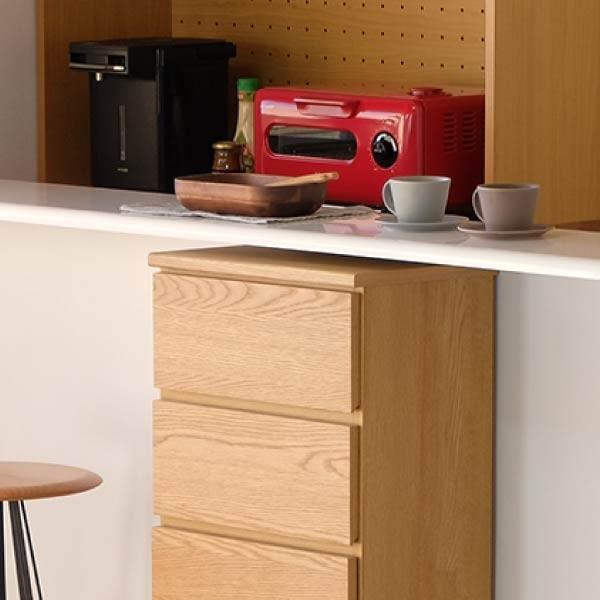 5のつく日!キッチンカウンター 木製 引出し 木製天板 送料無料 コレント チェスト 幅45 奥行30 高さ70 (IS)|denzo|02