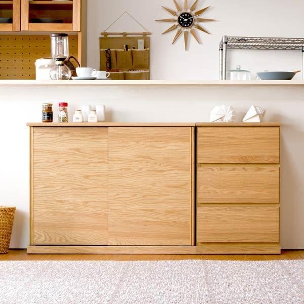 5のつく日!キッチンカウンター 木製 引出し 木製天板 送料無料 コレント チェスト 幅45 奥行30 高さ70 (IS)|denzo|04