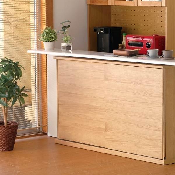 キッチンカウンター 木製 引き戸 木製天板 送料無料 コレント カウンター 幅150 奥行30 高さ85 (IS)|denzo|02
