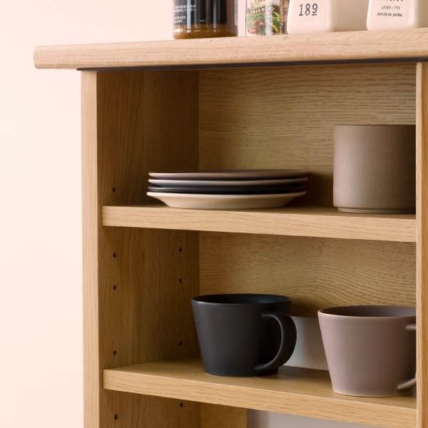 キッチンカウンター 木製 引き戸 木製天板 送料無料 コレント カウンター 幅150 奥行30 高さ85 (IS)|denzo|06