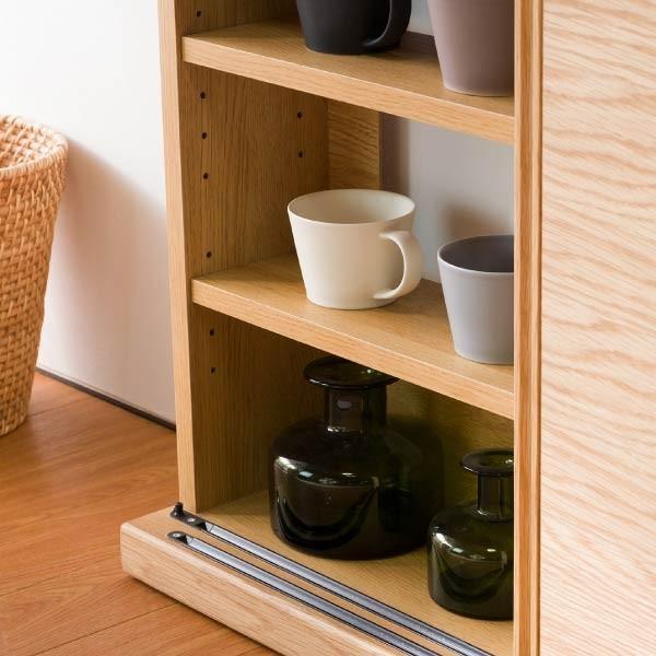 キッチンカウンター 木製 引き戸 木製天板 送料無料 コレント カウンター 幅150 奥行30 高さ85 (IS)|denzo|07