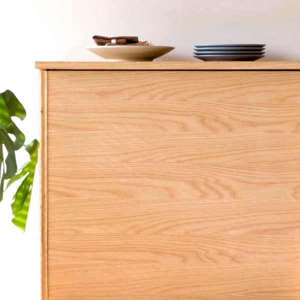キッチンカウンター 木製 引き戸 木製天板 送料無料 コレント カウンター 幅150 奥行30 高さ85 (IS)|denzo|08