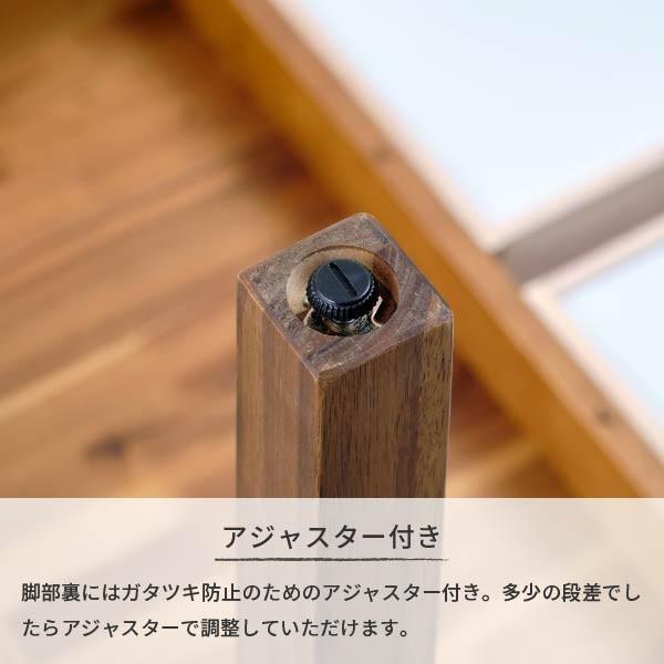 ダイニングテーブル 単品 木製 アカシア 無垢 ダイニング 食卓 4人掛け おしゃれ リティオ ダイニングテーブル 120 (ミディアムブラウン)(IS) denzo 12