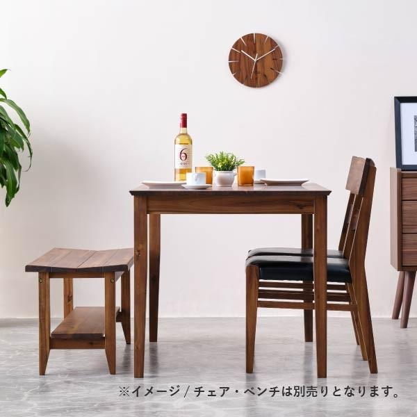 ダイニングテーブル 単品 木製 アカシア 無垢 ダイニング 食卓 4人掛け おしゃれ リティオ ダイニングテーブル 120 (ミディアムブラウン)(IS) denzo 03