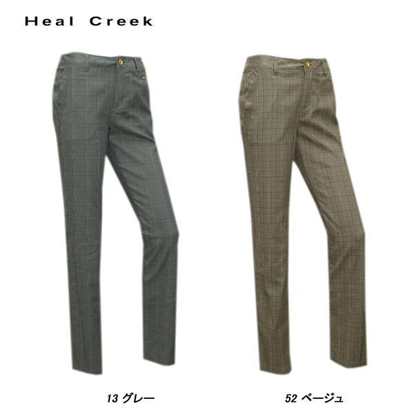 ヒールクリーク Heal Creek 秋冬 レディース グレンチェック パンツ|depot-044