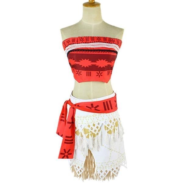 モアナと伝説の海 コスプレ衣装 コスチューム モアナ 3点セット(トップス +スカート+ベルト)|deris