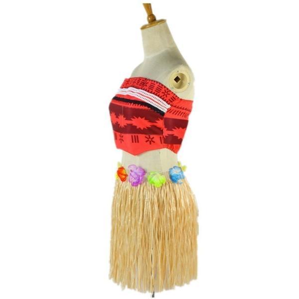 モアナと伝説の海 コスプレ衣装 コスチューム モアナ 3点セット(トップス +スカート+ベルト)|deris|02