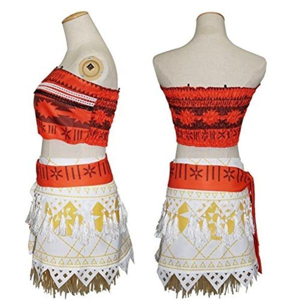 モアナと伝説の海 コスプレ衣装 コスチューム モアナ 3点セット(トップス +スカート+ベルト)|deris|03
