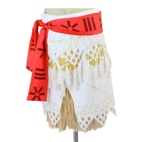 モアナと伝説の海 コスプレ衣装 コスチューム モアナ 3点セット(トップス +スカート+ベルト)|deris|06