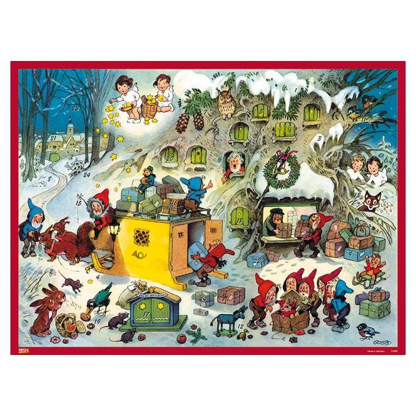 KORSCH コルシュ アドベントカレンダー ノームの郵便局(フリッツ・バウムガルテン)【11689】