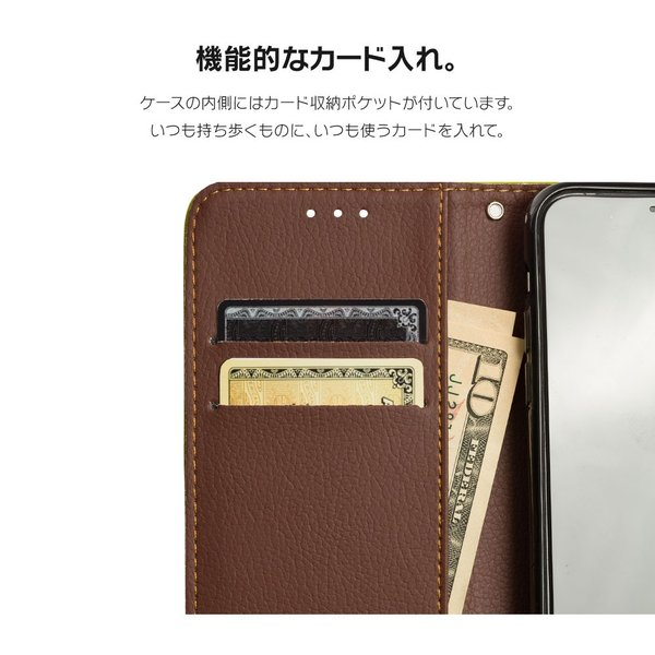 iPhone XR ケース iPhone8 スマホケース 手帳型 XS MAX X iPhone7 Plus iPhoneケース カバー 葉っぱ ナチュラル グリーン 緑 黒 茶 dm「 リーフ 」|designmobile|05
