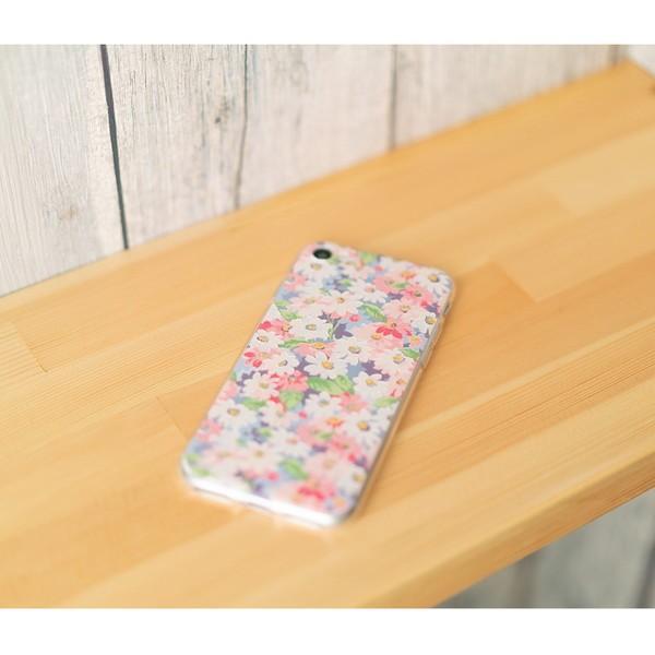 iPhone XR ケース iPhone8 スマホケース ソフトケース XS MAX X iPhone7 iPhoneケース Plus カバー シリコン 花 柄 マーガレット かわいい dm「 ボタニカル 」|designmobile|20