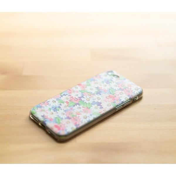 iPhone XR ケース iPhone8 スマホケース ソフトケース XS MAX X iPhone7 iPhoneケース Plus カバー シリコン 花 柄 マーガレット かわいい dm「 ボタニカル 」|designmobile|21