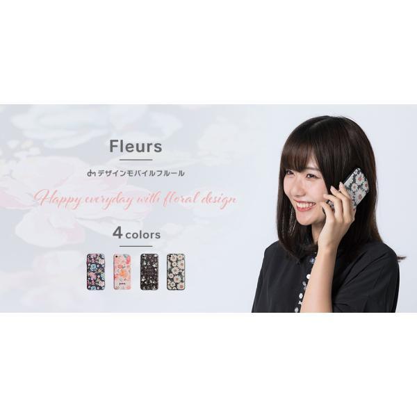 iPhone XR ケース iPhone8 スマホケース ソフトケース XS MAX X iPhone7 iPhoneケース Plus カバー 花柄 花 ローズ dm「 フルール 」|designmobile|02