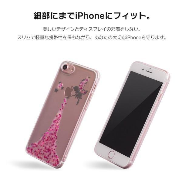 iPhone XR ケース iPhone8 スマホケース ソフトケース XS MAX X iPhone7 iPhoneケース カバー シリコン かわいい ティンカーベル ラメ dm「 ティンク 」|designmobile|03