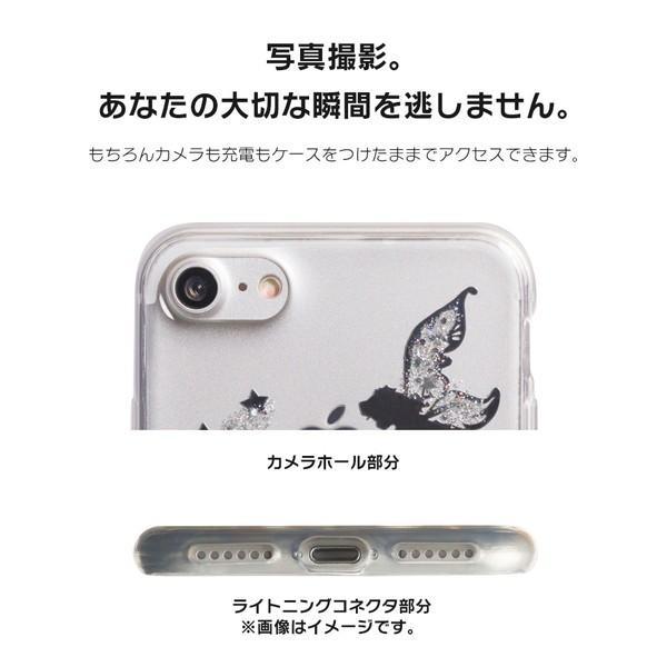 iPhone XR ケース iPhone8 スマホケース ソフトケース XS MAX X iPhone7 iPhoneケース カバー シリコン かわいい ティンカーベル ラメ dm「 ティンク 」|designmobile|07