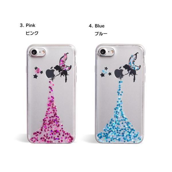 iPhone XR ケース iPhone8 スマホケース ソフトケース XS MAX X iPhone7 iPhoneケース カバー シリコン かわいい ティンカーベル ラメ dm「 ティンク 」|designmobile|10