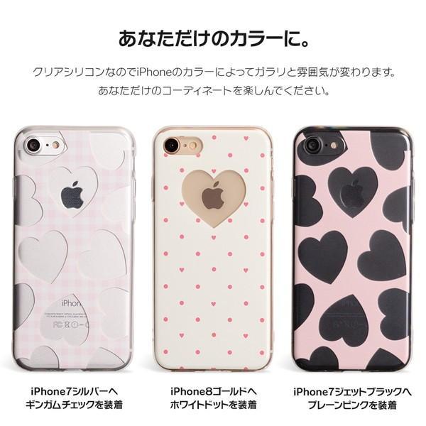 iPhone XR ケース iPhone8 スマホケース ソフトケース XS MAX X iPhone7 iPhoneケース カバー かわいい ハート ギンガム 水玉 dm「 スクラップハート 」|designmobile|03