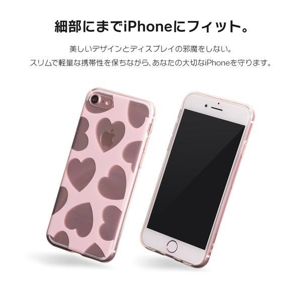 iPhone XR ケース iPhone8 スマホケース ソフトケース XS MAX X iPhone7 iPhoneケース カバー かわいい ハート ギンガム 水玉 dm「 スクラップハート 」|designmobile|04