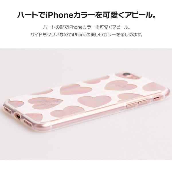 iPhone XR ケース iPhone8 スマホケース ソフトケース XS MAX X iPhone7 iPhoneケース カバー かわいい ハート ギンガム 水玉 dm「 スクラップハート 」|designmobile|05