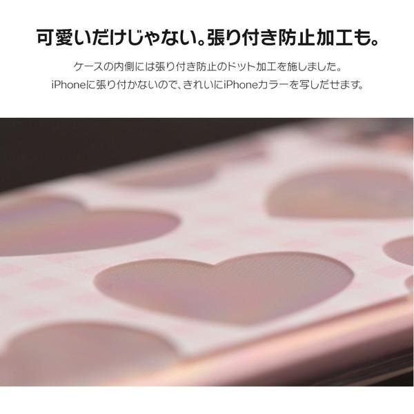 iPhone XR ケース iPhone8 スマホケース ソフトケース XS MAX X iPhone7 iPhoneケース カバー かわいい ハート ギンガム 水玉 dm「 スクラップハート 」|designmobile|06