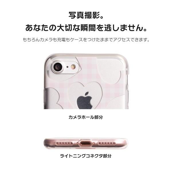 iPhone XR ケース iPhone8 スマホケース ソフトケース XS MAX X iPhone7 iPhoneケース カバー かわいい ハート ギンガム 水玉 dm「 スクラップハート 」|designmobile|07