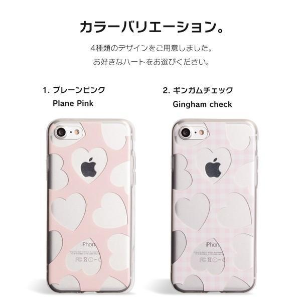 iPhone XR ケース iPhone8 スマホケース ソフトケース XS MAX X iPhone7 iPhoneケース カバー かわいい ハート ギンガム 水玉 dm「 スクラップハート 」|designmobile|09