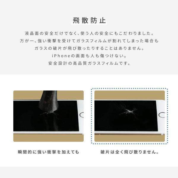iPhone XR フィルム iPhone8 ガラスフィルム XS MAX X iPhone7 6s 6 SE 5s 5 Plus マックス 液晶保護 「 液晶保護ガラスフィルム 0.09mm 9H 」|designmobile|12