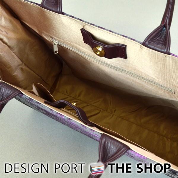 バッグ レディース 和装バッグ 小物 プレゼント タウンバッグ オーナメント パープル 川島織物セルコン